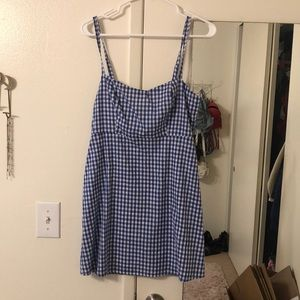 LF blue and white checkered dress